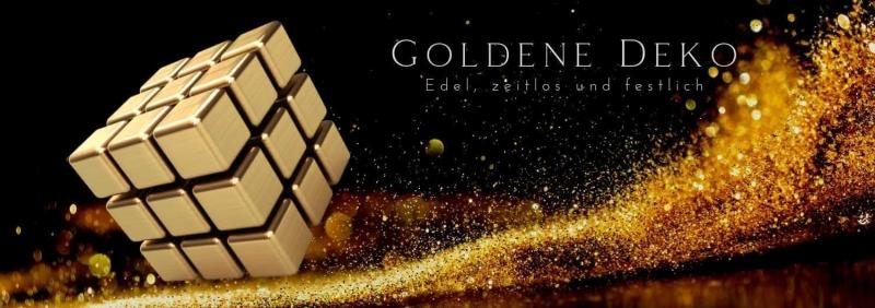 Goldene Deko edel + festlich D