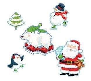 Maxi-Pack Cutouts Fröhliche Weihnachtszeit, 12er Pack