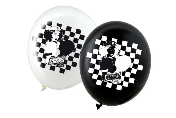 Luftballons Be Bop a Lula - 50er Jahre Mottoparty Deko