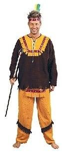 Herrenkostüm Sitting Bull passend bis Gr 54
