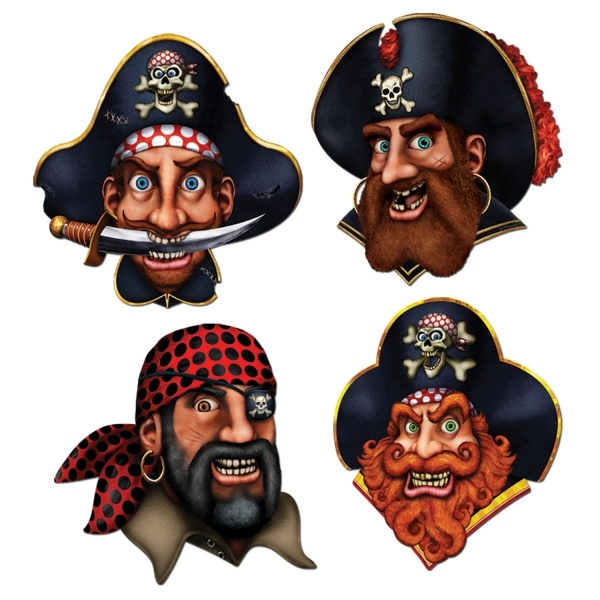 Cutout Set Piratencrew - Piraten Deko