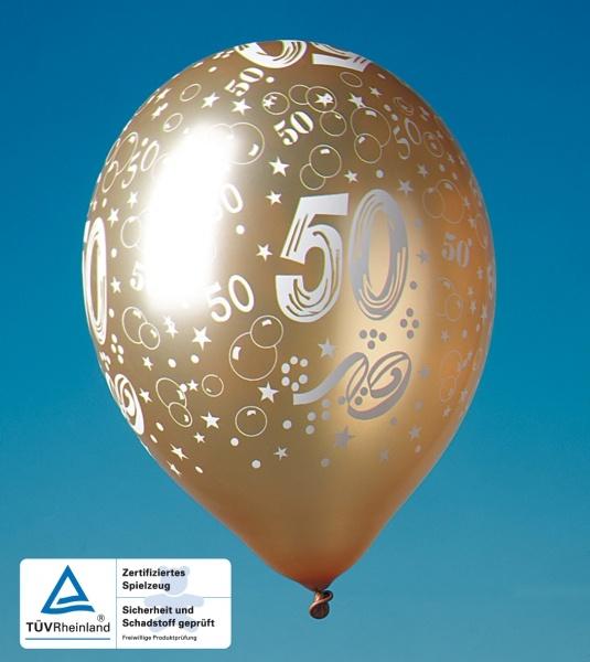 Luftballons Goldene Hochzeit, 5er Pack