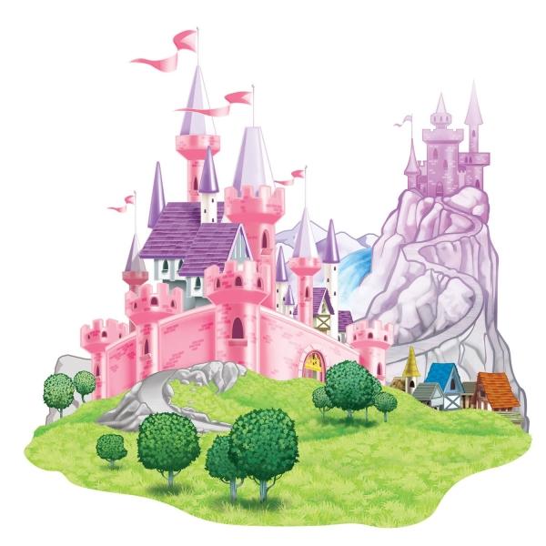 Dekofolie Traumschloss - Prinzessinnen Deko