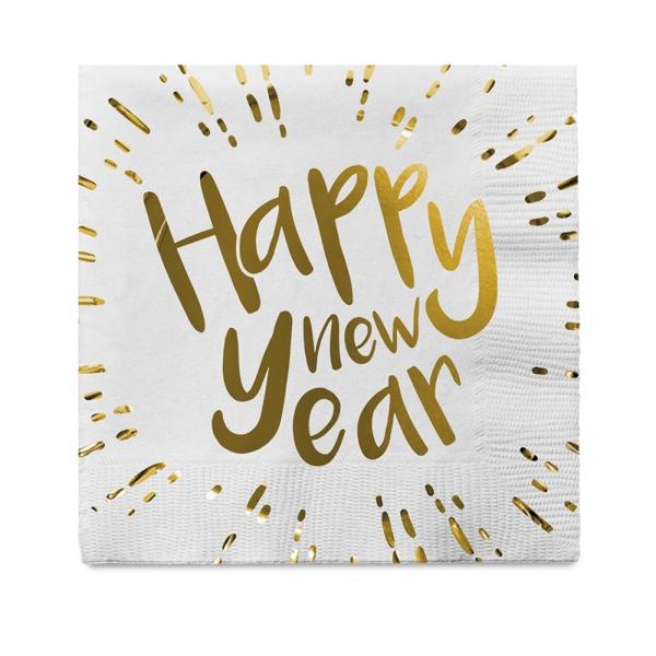 Servietten Happy New Year - Silvester Deko