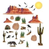 Dekofolien Tödliche Wüste, 13-teilig, 6 versch. Motive, 13 - 130cm