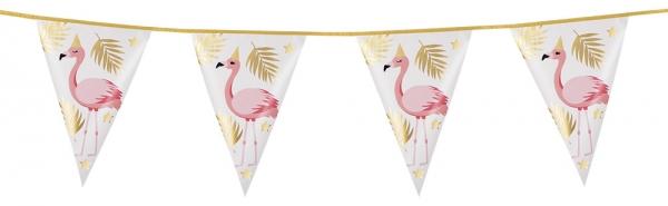 Folien-Wimpelkette Flamingo - Pink Flamingodeko