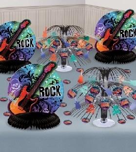 Mega-Tischdeko-Set Rock Star, 6er Pack