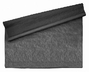 Schwarze Tischtuchrolle, 10 Meter