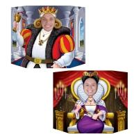 Party-Extra Fotowand Aufsteller Eure Majestät