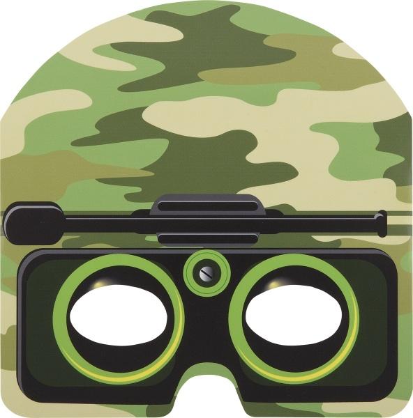 Pappmasken Soldat, 8er Pack