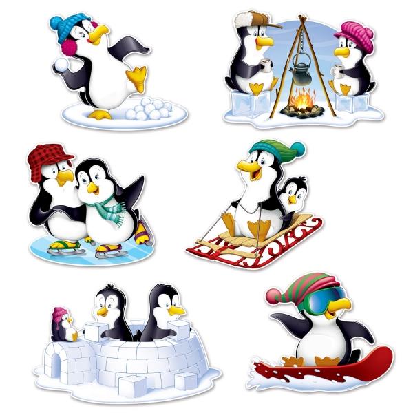 Pinguin Cutout Set - Winterparty Deko