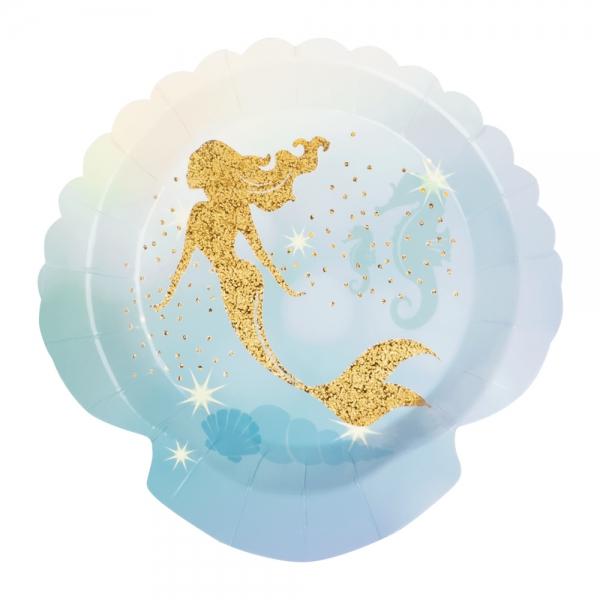 Papierteller Meerjungfrau