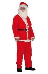 Einfaches Weihnachtsmann-Kostüm mit Bart