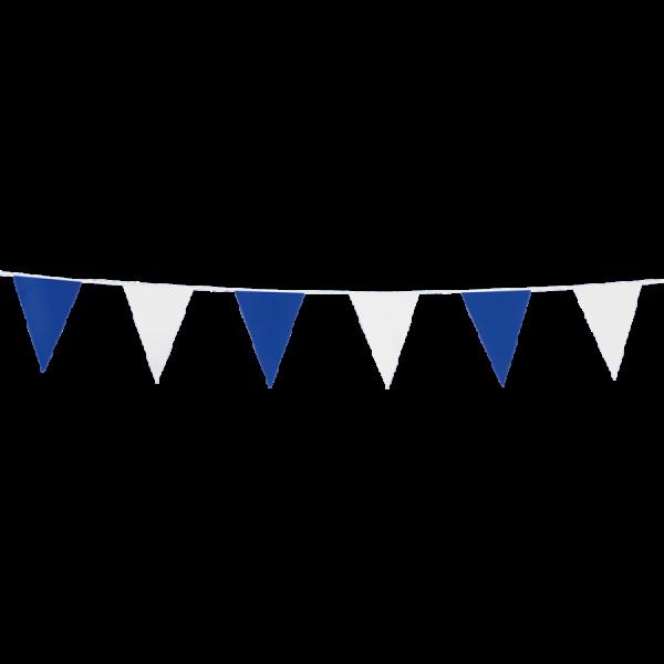 Mini-Wimpelkette blau-weiss, 3 Meter - Maritime Deko