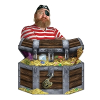 Party-Extra Riesen Pappaufsteller Sdhatzkiste - Piraten Deko