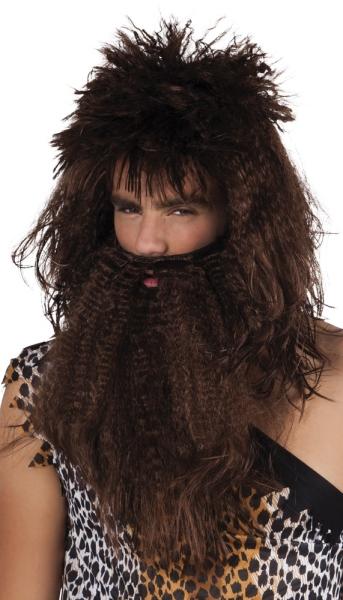 Perücke Urzeit-Mensch mit Bart