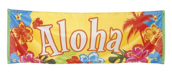 Riesen Stoff-Banner Aloha - Beachparty Südsee Deko