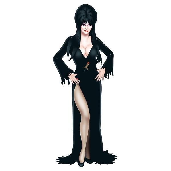 Cutout Elvira - Herrscherin der Dunkelheit - Halloween Deko
