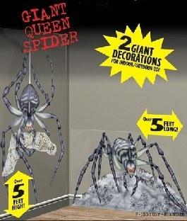 Dekofolie Tödliche Riesenspinnen - Gruselparty Deko