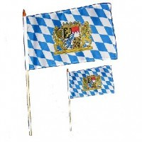 Bayern-Flagge am Holzstab 30 x 45 cm