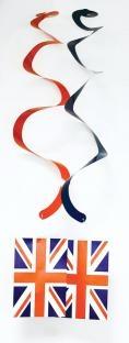 Spiralhänger Union Jack - England Party Deko