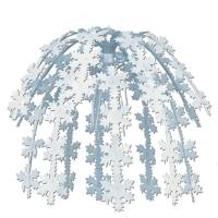 Party-Extra Große Hängekaskade Schneeflocke, 60 cm