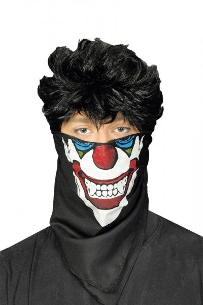 Party-Extra Masken-Tuch Vampir Clown - Gruselparty Deko