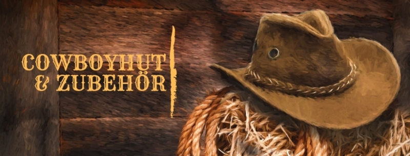 Party-Extra Cowboyhut + Accessoires für Wild West Parties