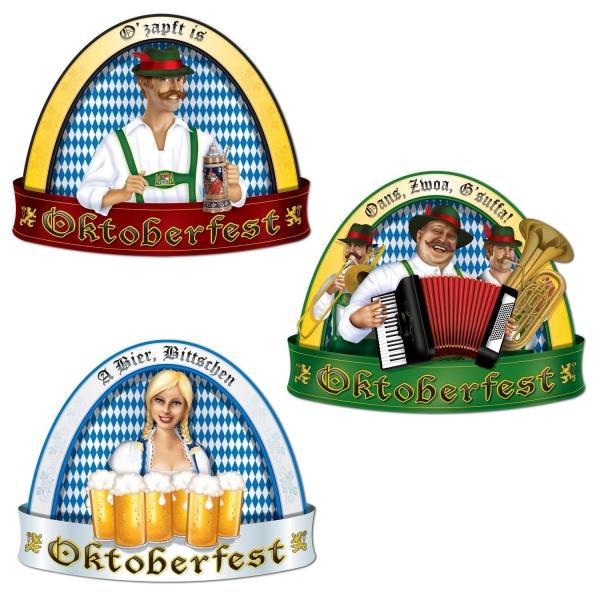Cutout Set Oans, Zwoa, G'suffa! - Oktoberfest Deko