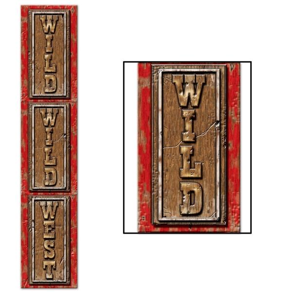 Party-Extra Riesen Dekoschild Wild, Wild West - Westernparty Deko