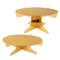 2 Kuchenständer Gold, 32cm