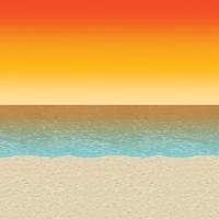 Dekofolie Tropical Strandparty - Beachparty Hawaii Deko