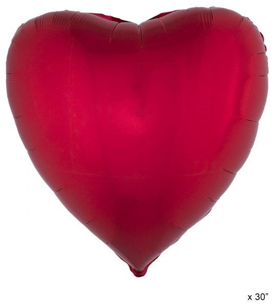 Folienballon Herz, rot - Romantische Deko
