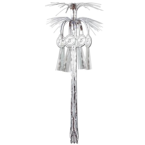 Große Dekokaskade Silberhochzeit - Glamour Deko
