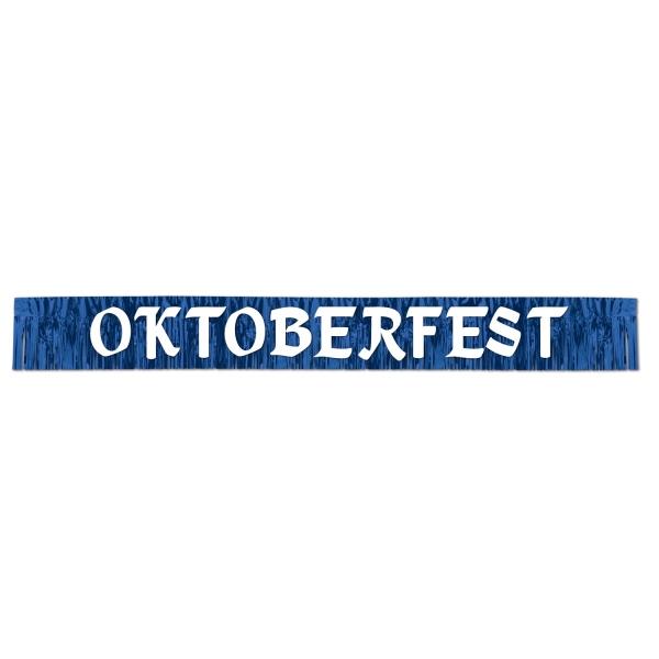 Metallic-Fransenbanner Oktoberfest - Festzeltdeko