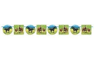 Girlande Wildpferde - Pferde Deko