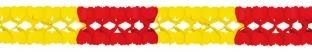Deko-Girlande rot-gelb, 4 Meter lang