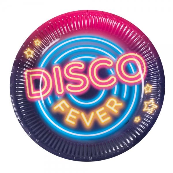 Pappteller Disco Fever - Discoparty Tischdeko