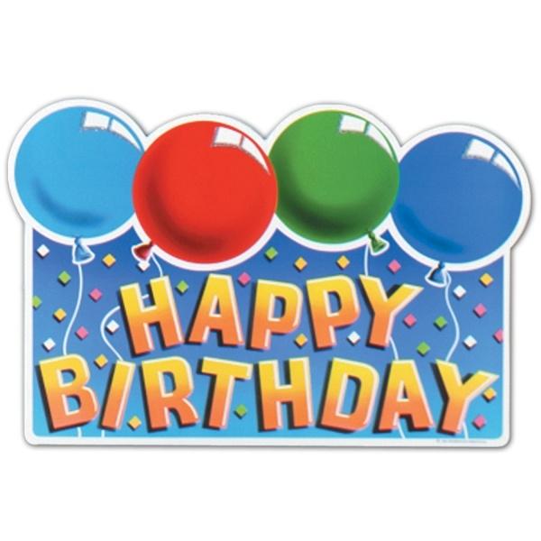 Cutout Dekoschild Happy Bifrthday - Geburtstagsdeko