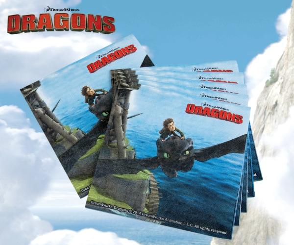 Servietten Dragons, 20er Pack