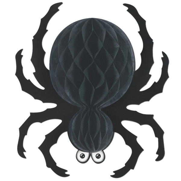 Wabenpapier Deko-Spinne - Halloween Gruselparty Deko