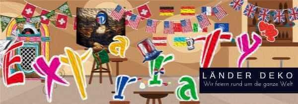 Laender Mottoparty Deko - feiern rund um die Welt M