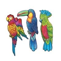 Cutout-Set Tropenvögel, 3-teilig