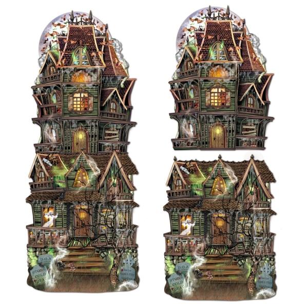 Jumbo Geisterhaus Cutout, 2er Pack, je 62cm