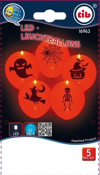 LED Leuchtballons Halloween - Gruselparty Deko, Verpackung