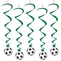 Spiralhänger Fußbsll - Fußballparty Deko
