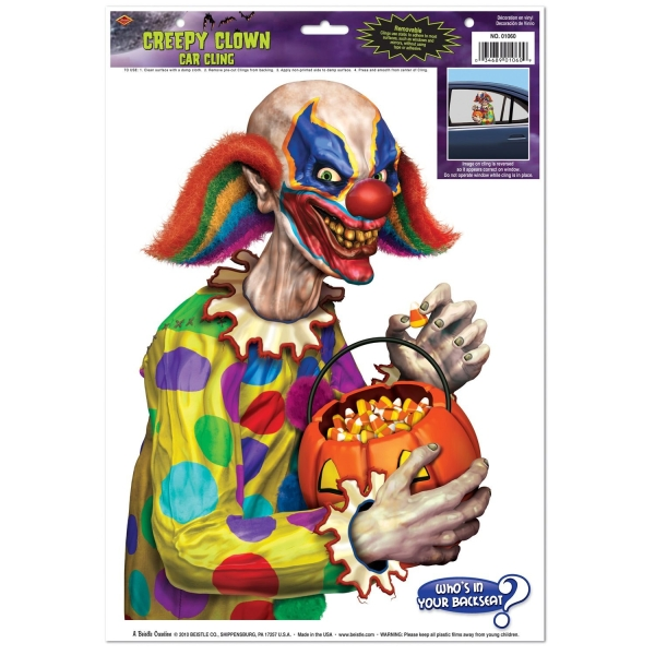 Fensterfolie Horror Clown, 35 cm