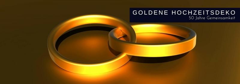 Deko fuer die Goldene Hochzeit - 50 Jahre Gemeinsamkeit feiern