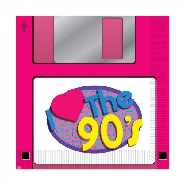 Servietten Floppy Disk - 90er Jahre Mottoparty Tischdeko
