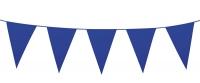 Mini-Wimpelkette Blau, 3 Meter